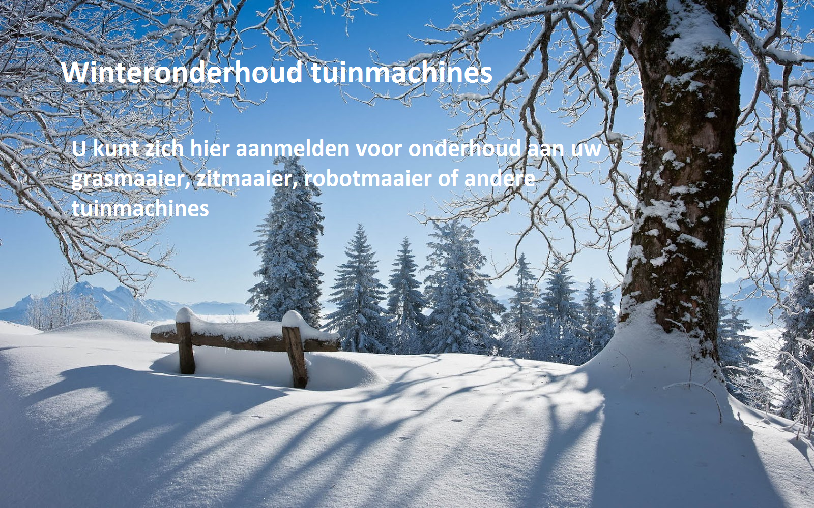 Winteronderhoud
